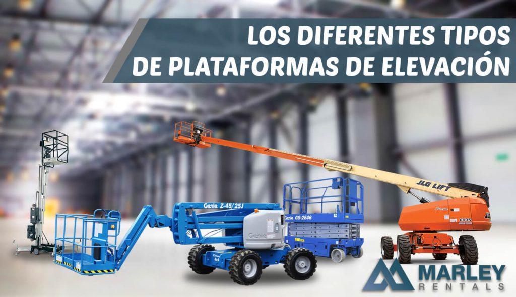 Los diferente tipos de plataformas de elevación